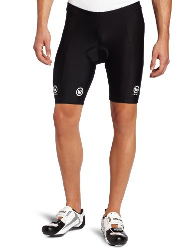 Canari Cyclewear Men's Velo Padded Cycling Short (Black, Large)