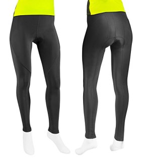 Womens Triumph Padded Cycling Tights – Made in the USA (Medium, Black)