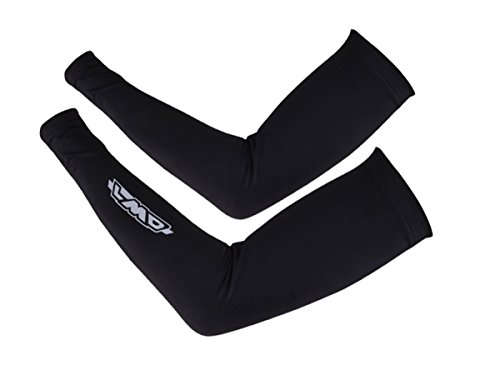 4ucycling Unisex Compression Fit Athletic Thermal Arm Sleeves Fleece Arm Warmers for Winter & Arm Cooler with Spandex for Summer