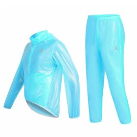 WOLFBIKE Waterproof Cycling Jacket Jersey Raincoat Pants Superlight, Fluorescent Blue, Size S