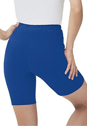 Women's Plus Size Bike Shorts In Comfy Stretch Fabric Dark Sapphire,S