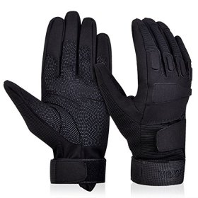 Vbiger Outdoor Strategic Gloves for Mountain, Cycling, Racing Motorcycle and Warmth (Black, L)