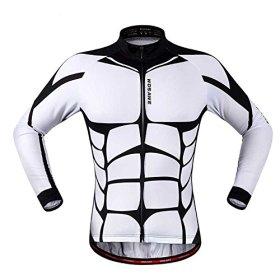 Anhvuu Unisex Long Sleeve Shirt Cycling Jerseys Warm Riding Clothing L