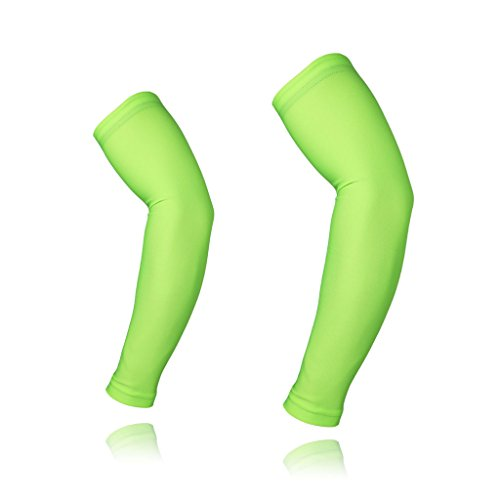 ARSUXEO Cycling Sleeves Armwarmers MTB Sleeves Arm warmer UV Protection XTN01 Green Size X-Large