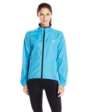 Canari Cyclewear Women's Tour Convertible Jacket, Fiji Blue, Small