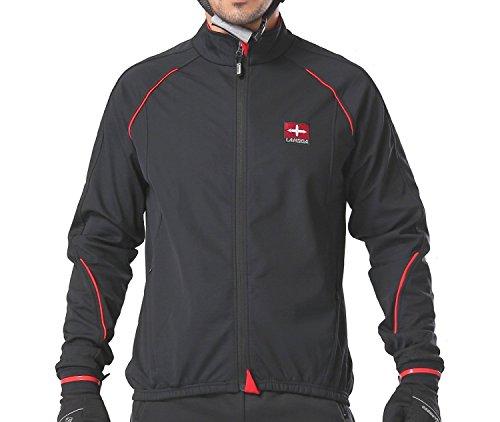 4ucycling Windproof Black Cycling Jacket