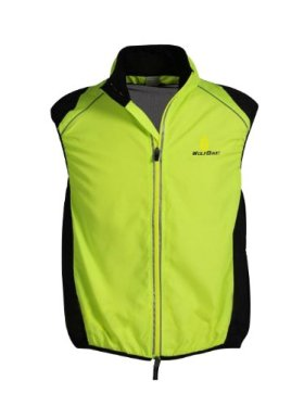 WOLFBIKE Cycling Vest Jersey for Men Sleeveless, Green, Size: M