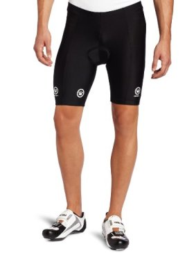 Canari Cyclewear Men's Velo Padded Cycling Short (Black, Medium)