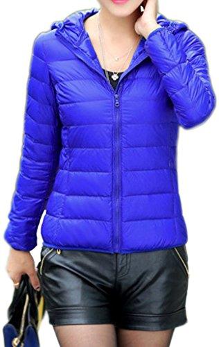 Z-SHOW Womens Outwear Light Packable Down Coat Powder Pillow Jacket,US Small/ASIAN Large,Sapphire Blue