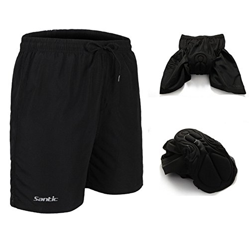 Santic Men's 4D Padded Bikes Shorts Loose Comfort Breathable Fitting Mountain Bike Shorts