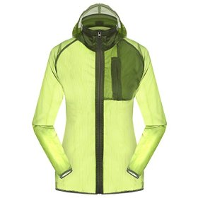 Women's Outdoor Anti UVA UPF 30+ Waterproof Quick-dry Thin Windbreaker Jackets Green CN Tag 3XL – US XL