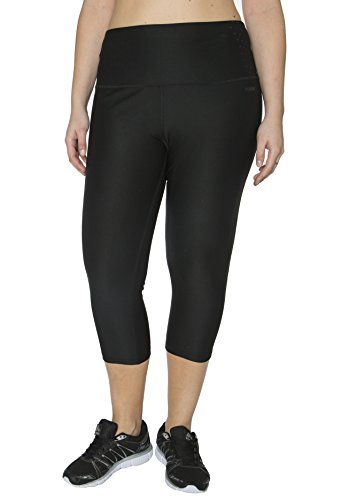 RBX Active Plus Size Body Contouring High Waisted Crop Capri Compression Leggings