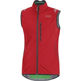 GORE BIKE WEAR Men's ELEMENT WINDSTOPPER Active Shell Vest, size M, red