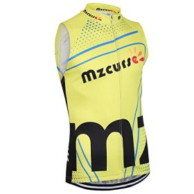 Mzcurse Men's Team Mountain Bike Cycling Short Shirt Jersey Shorts Suit Kit Set (Yellow Vest, X-Large,please check the size chart)