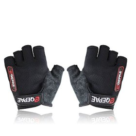 Grazing Ultra-breathable Silicone and Anti-slip Half Finger Cycling Bike Bicycle Gel Gloves