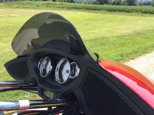 Windvest Windshield Mounted on Victory XCT