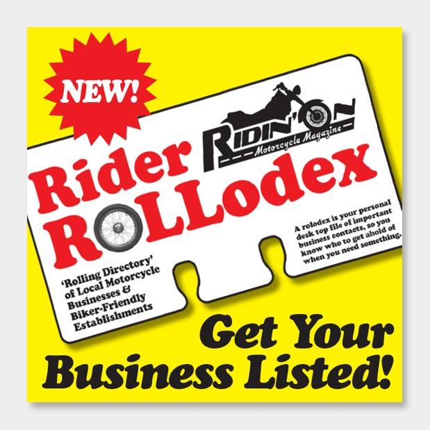 Rider ROLLodex