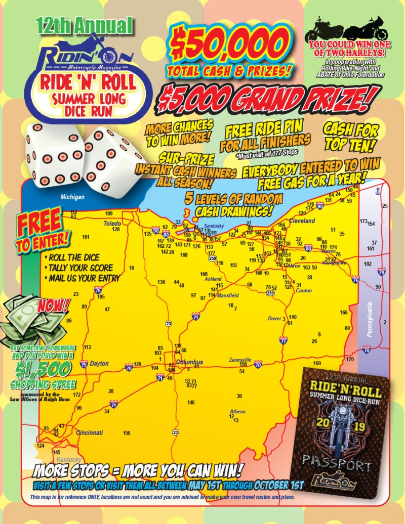 Ride-N-Roll 2019 Map