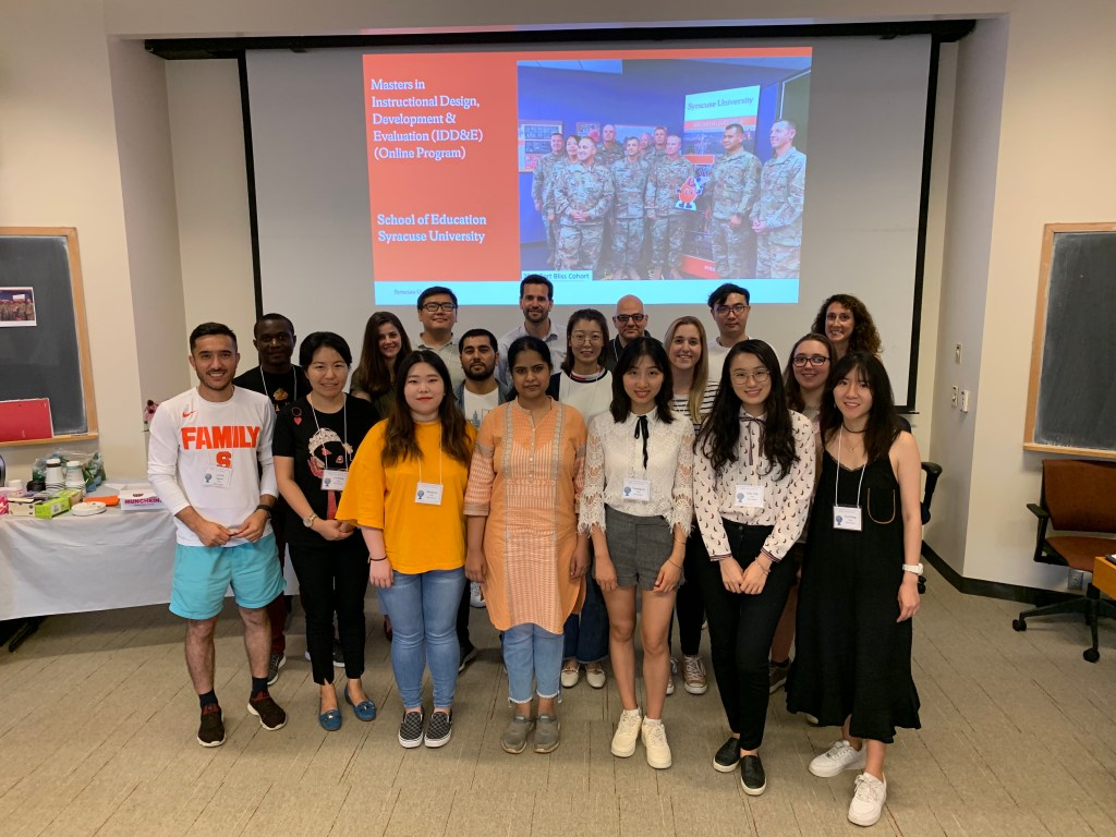 Newsly admitted M.S. and Ph.D. students at the Annual Student Orientation in SOE Huntington Hall, August 2019