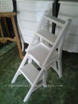 kursi tangga cat duco kayu jati