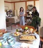 青木邸で朝食を