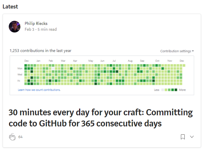 REVIEW: 30 minutes every day for your craft: Committing code