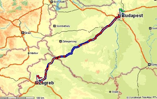 Budapest naar Zagreb