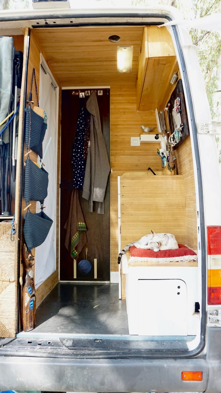 Bathroom in the back of an rv