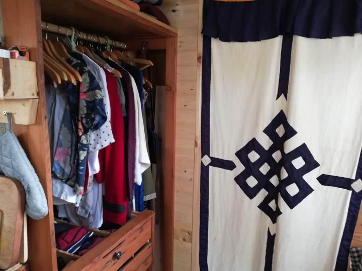 diy wardrobe in a tiny house