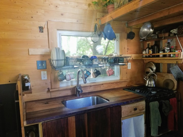 diy kitchen in a tiny house