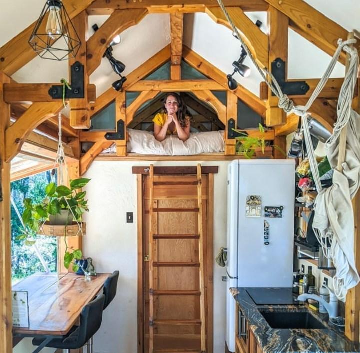 self built loft above bathroom