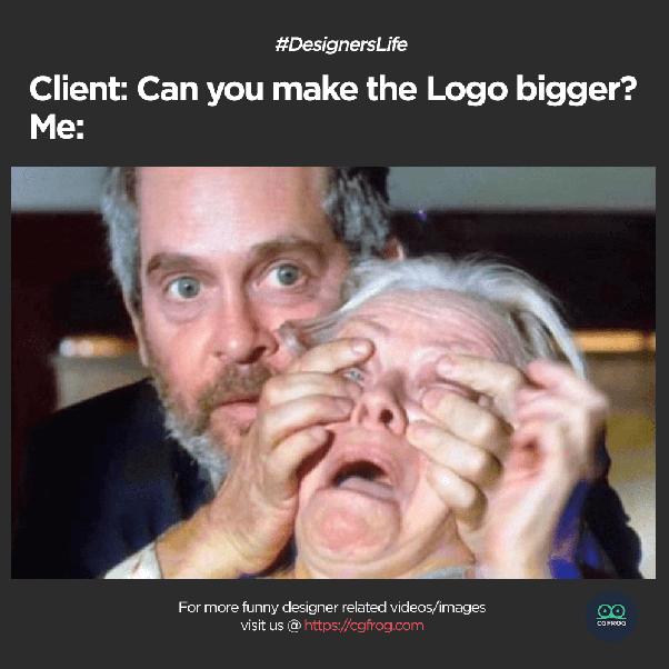 Meme make the logo bigger