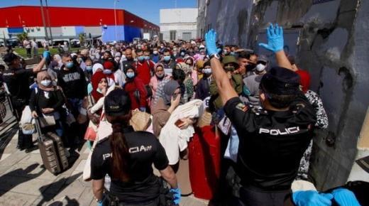 مائة مغربي عالق طلبوا العودة ومعبر باب سبتة المحتلة ستبقى مغلقة