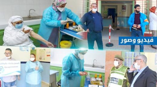 """شاهد.. انطلاق حملة التلقيح ضد فيروس """"كورونا"""" بإقليم الناظور (ربورطاج من المركز الصحي بفرخانة)"""