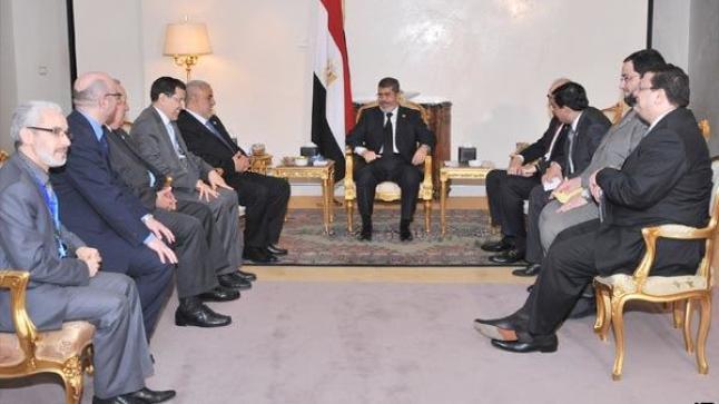 مرسي يثمِّن الموقف المغربي تجاه نظام السيسي