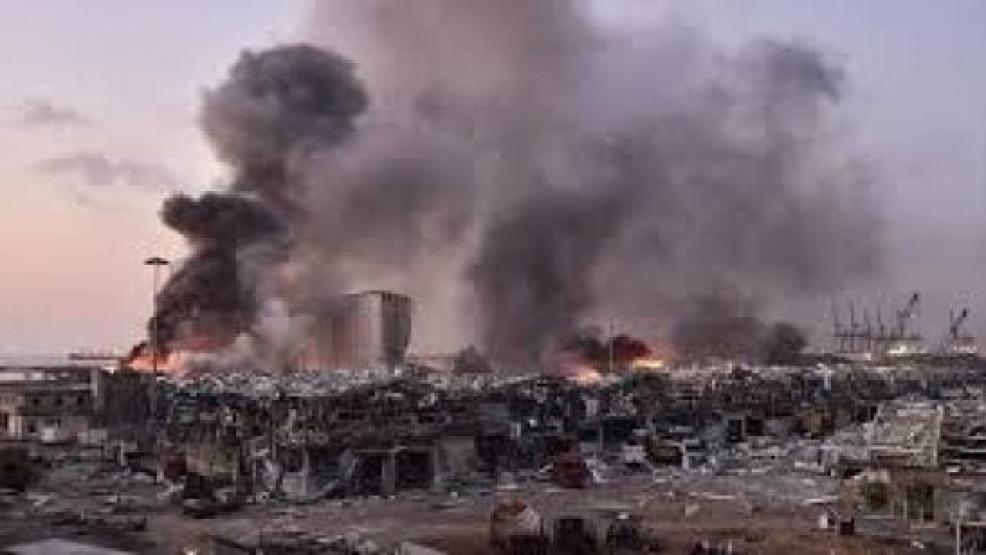 مشاهد جوية تكشف حجم الدمار جراء انفجار مرفأ بالعاصمة اللبنانية بيروت