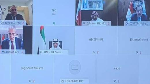 أول اجتماع لوزير الطاقة عزيز الرباح مع الوزير الصهيوني (+صورة)