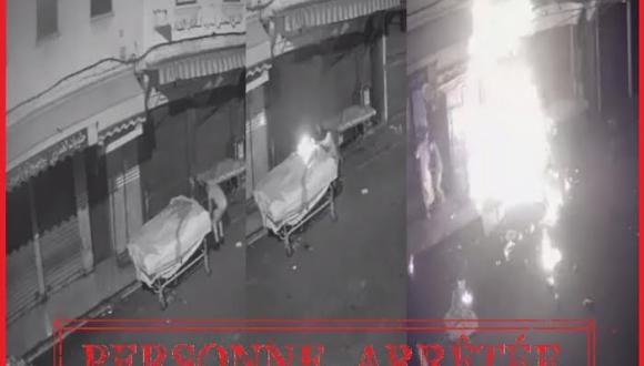 """الشرطة تعتقل """"بطل فيديو"""" إضرام النار في عربة للبضائع"""