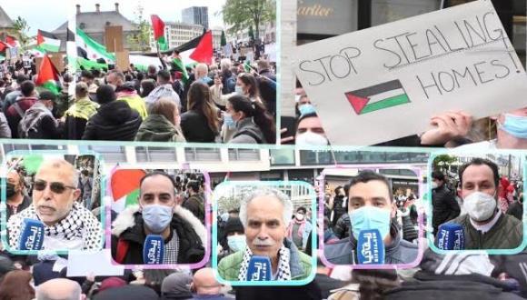 ألمانيا : مظاهرات حاشدة بفرانكفورت تنديدا بالعدوان الإسرائيلي على قطاع غزة (فيديو)