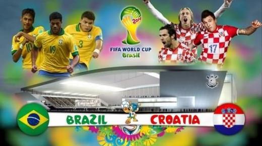 البث المباشر لمباراة البرازيل – كرواتيا Brazil vs Croatia – live