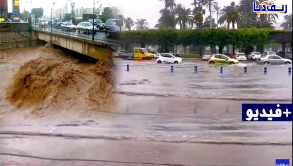 شاهد بالفيديو: السيول تجرف مدينة مليلية المحتلة