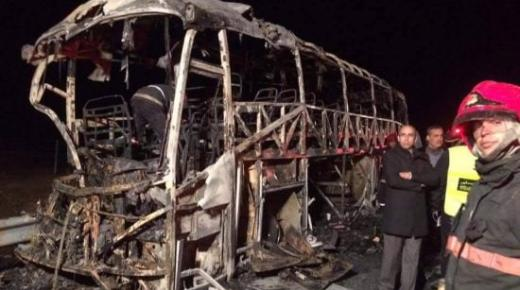 فاجعة.. مصرع 10 أشخاص حرقا داخل حافلة للركاب ضواحي شيشاوة (فيديو)