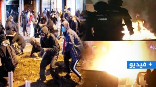 """إسبانيا.. أحداث عنف وأعمال تخريب في مظاهرات جديدة مطالبة بإطلاق سراح """"مغني راب"""" (فيديو)"""
