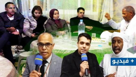 حوار صحفي: المكتب الجهوي لمؤسسة جمع شمل الصحراويين المغاربة يستقبل أمينه العام بالناظور (+فيديو و صور)