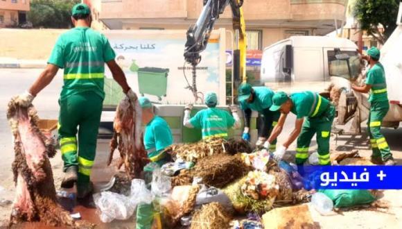 عيد الأضحى.. هكذا انتصر عمال النظافة بالناظور على أكوام الأزبال (ربورطاج فيديو)