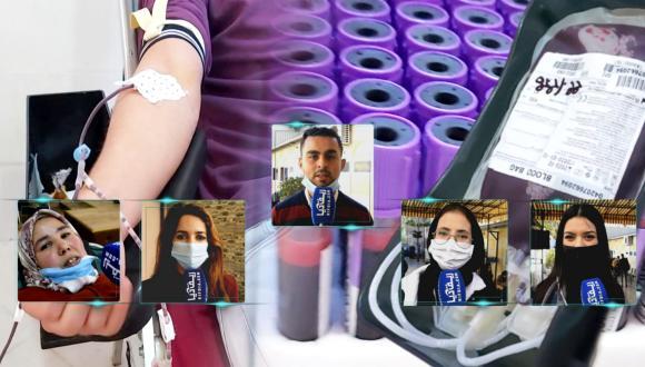 حملة للتبرع بالدم بالناظور خارج أسوار المستشفى بأفكار شبابية جديدة (فيديو وصور)