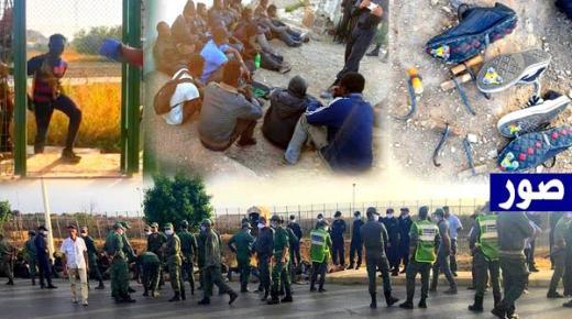 اختراق جماعي لمئات المهاجرين السريين لسياج مليلية والنتيجة مأساوية (صور)
