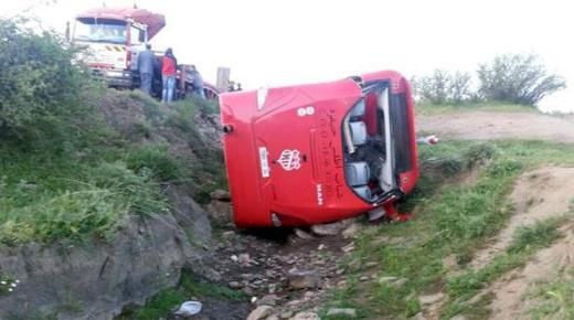 شباب خنيفرة يتعرض لحادث مروع على بعد 20 كلم عن مدينة مريرت