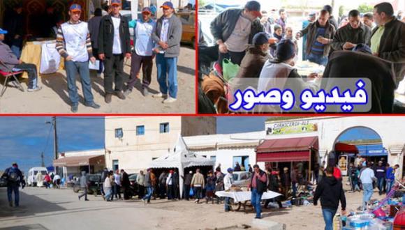 اقبال مكثف للمواطنين ببني شيكر على خيمة العدالة والتنمية للتسجيل في اللوائح الانتخابية