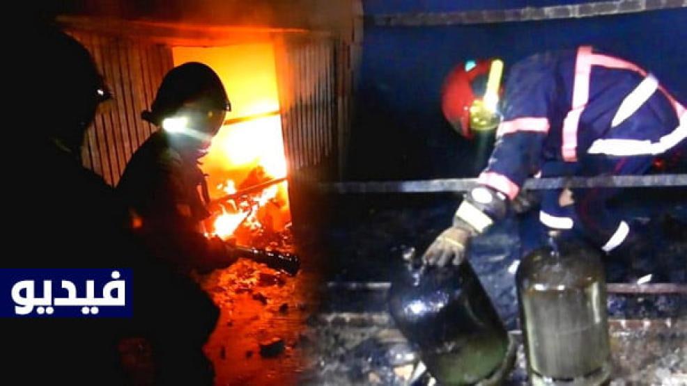 """فرخانة : حريق مُهول يأتي على منزل بالكامل ويحول محتوياته إلى رماد ، والسبب """"شارجور"""" الهاتف (فيديو وصور)"""